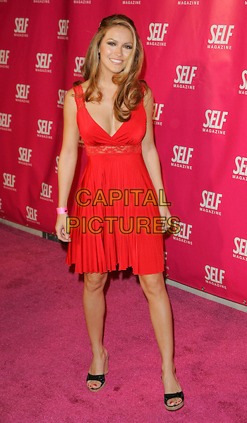 CHRISHELL STAUSE.At Self Magazine event to introduce 'Self Spotlight' Breast Cancer Awareness Benefit, New York, NY, USA..September 27th, 2006.Ref: ADM/JL.full length red dress.www.capitalpictures.com.sales@capitalpictures.com.©Jackson Lee/AdMedia/Capital Pictures.