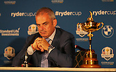 Ryder Cup Captain Paul McGinley (IRL) announces that Ian Poulter (ENG), Stephen Gallacher (SCO) and Lee Westwood (ENG) as his Captain's Picks, during the Team Europe Ryder Cup Press Conference at the Wentworth Club, Virginia Waters, England. Picture:  David Lloyd / www.golffile.ie