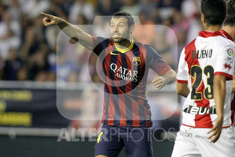 FC Barcelona's Javier Mascherano during La Liga match.September 21,2013. (ALTERPHOTOS/Acero)
