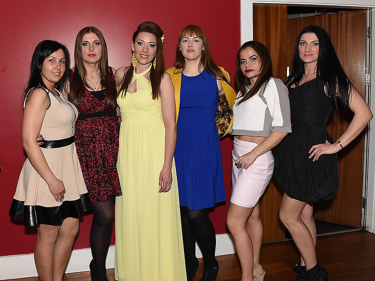 Evelina Ardavicene celebrating her 30th birthday in Brú with friends Kristina, Loreta, Viktorja, Daina and Aukse. Photo:Colin Bell/pressphotos.ie