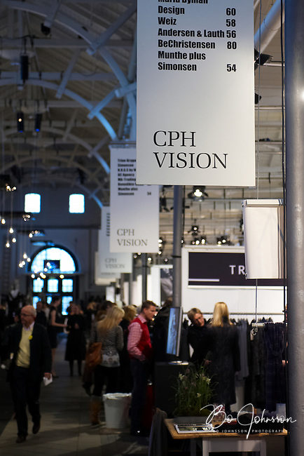 The fashion fair &quot;CPH Vision&quot; in Oksnehallen. Copenhagen Fashion Week.<br /> February 2009.<br /> Only for editorial use.