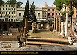 Largo di Torre Argentina Temple A Temple of Juturna 3rd c BC Apse and Altar San Nicola dei Cesarini 9th c Church built in Temple Imperial Office of Water Management on left Campus Martius Rome