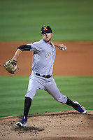 Salt River Rafters pitcher Kyle Freeland (30) delivers a pitch during an Arizona Fall League game against the Glendale Desert Dogs on October 21, 2015 at Camelback Ranch in Glendale, Arizona.  Glendale defeated Salt River 1-0.  (Mike Janes/Four Seam Images)