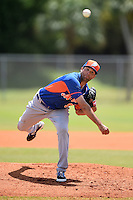 New York Mets pitcher Brent McMinn (99) during a minor league spring training game against the St. Louis Cardinals on April 1, 2015 at the Roger Dean Complex in Jupiter, Florida.  (Mike Janes/Four Seam Images)