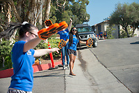 Incoming first-years move into their residence halls during Occidental College Orientation on Aug. 22, 2014.<br /> (Photo by Marc Campos, Occidental College Photographer)