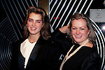 Brooke Shields and mom Teri Shields at Regine's, New York City. 1983..