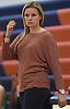 Lauren Sadeh, Manhasset varsity girls basketball coach, watches her team during a non-league game against Farmingdale at Manhasset High School on Saturday, Dec. 8, 2018.