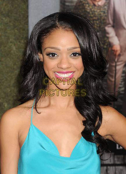 """Tiffany Boone.arriving at the Los Angeles premiere of """"Beautiful Creatures"""" at TCL Chinese Theatre in Hollywood, California, USA, .February 6th, 2013..portrait headshot smiling blue turquoise .CAP/ROT/TM.©Tony Michaels/Roth Stock/Capital Pictures"""