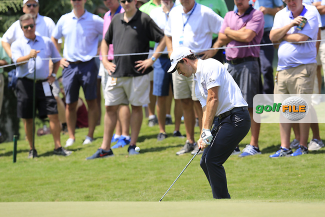 Patrick Cantlay (USA) chips onto the 13th green during Thursday's Round 1 of the 2017 PGA Championship held at Quail Hollow Golf Club, Charlotte, North Carolina, USA. 10th August 2017.<br /> Picture: Eoin Clarke | Golffile<br /> <br /> <br /> All photos usage must carry mandatory copyright credit (&copy; Golffile | Eoin Clarke)