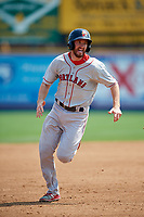 Portland Sea Dogs third baseman Jantzen Witte (22) runs the bases during the first game of a doubleheader against the Reading Fightin Phils on May 15, 2018 at FirstEnergy Stadium in Reading, Pennsylvania.  Portland defeated Reading 8-4.  (Mike Janes/Four Seam Images)