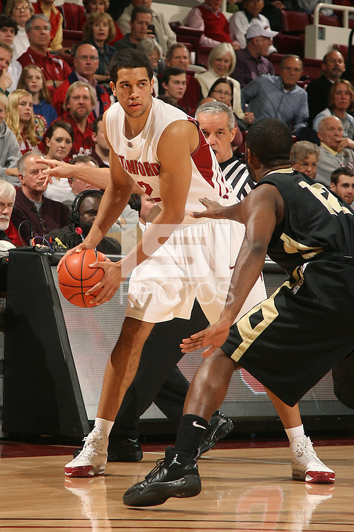Stanford, CA - NOVEMBER 29:  Guard Landry Fields #2 of the Stanford Cardinal during Stanford's 76-62 win against the Colorado Buffaloes in the Big 12/Pac-10 Hardwood Series on November 29, 2008 at Maples Pavilion in Stanford, California.