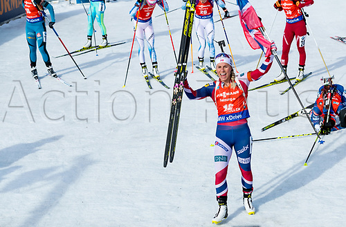 March 19th 2017, Oslo, Norway; BMW IBU World Cup Biathlon;  Tiril Eckhoff of Norway  winner of the women 12.5km mass start at the IBU World Cup Biathlon in Holmenkollen Oslo, Norway