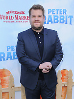 03 February 2018 - Los Angeles, California - James Corden. &quot;Peter Rabbit&quot; Los Angeles Premiere held at The Grove. <br /> CAP/ADM/BT<br /> &copy;BT/ADM/Capital Pictures
