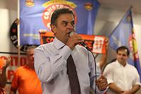 SAO PAULO, SP, 05.04.2014 - AECIO NEVES - Aecio Neves pre candidato a presidencia da Republica pelo PSDB apresenta propostas ao lado de Paulinho da Força da Força Sindical no Sindicato Nacional dos Aposentados, Pensionistas e idosos da Força Sindical no centro de Sao Paulo nesta segunda-feira. (Foto: William Volcov / Brazil Photo Press).