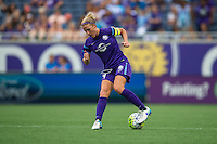 Orlando, FL - Sunday July 10, 2016: Becky Edwards during a regular season National Women's Soccer League (NWSL) match between the Orlando Pride and the Boston Breakers at Camping World Stadium.