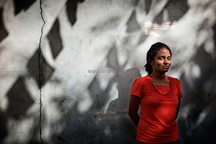 MALDIVES, MALE NOVEMBER 2013: Shauna Aminath<br />President of the Youth League of the MDP, the Democratic Party of the Maldives, Mohamed Nasheed.© Giulio Di Sturco
