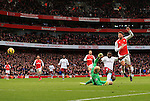 Arsenal's Olivier Giroud scoring his sides opening goal<br /> <br /> Barclays Premier League - Arsenal vs Aston Villa - Emirates Stadium  - England - 1st February 2015 - Picture David Klein/Sportimage