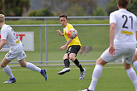 Phoenix&rsquo; Noah Tipene-Conroy in action during the National Youth League - Phoenix Youth v Team Wellington Youth at Petone Memorial Park, Lower Hutt, New Zealand on Saturday 29 October 2016.<br /> Photo by Masanori Udagawa. <br /> www.photowellington.photoshelter.com.