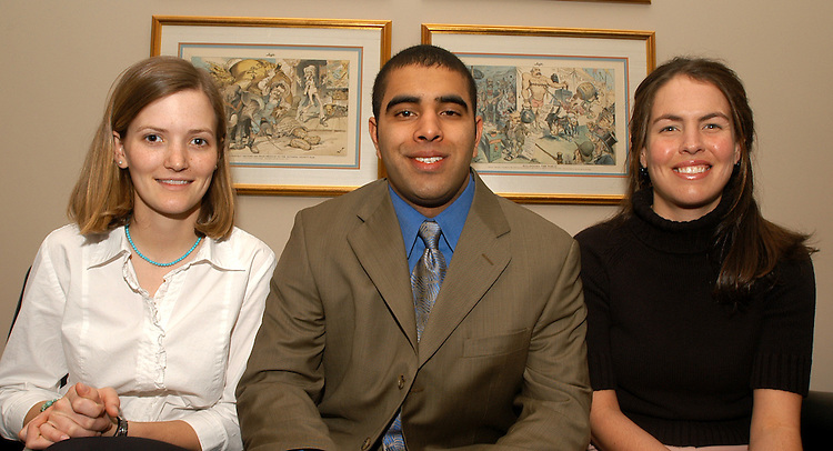climbers3/013030 - Zak Baig, Legislative Correspondent, Amanda Mayer, Scheduler, and Nancy Wilson, Staff Assistant, at Rep. David Vitter's, R-La., office.