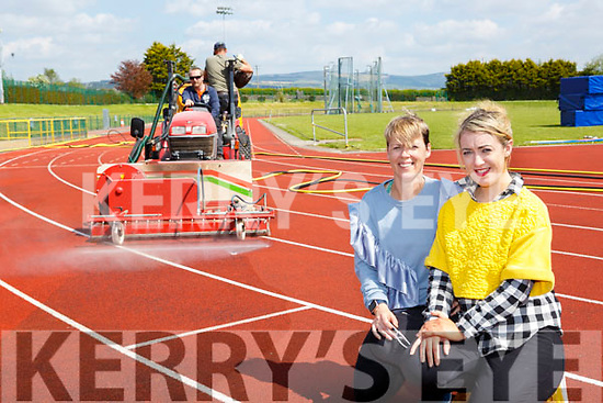 Kate McSweeney and Tara Walmsley from An Riocht Castleisland who are laying down a new athletics track