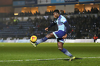 Aaron Pierre of Wycombe Wanderers during the Sky Bet League 2 match between Wycombe Wanderers and Leyton Orient at Adams Park, High Wycombe, England on 17 December 2016. Photo by David Horn / PRiME Media Images.