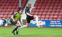 Pars' Andrew Geggan scores their first goal.