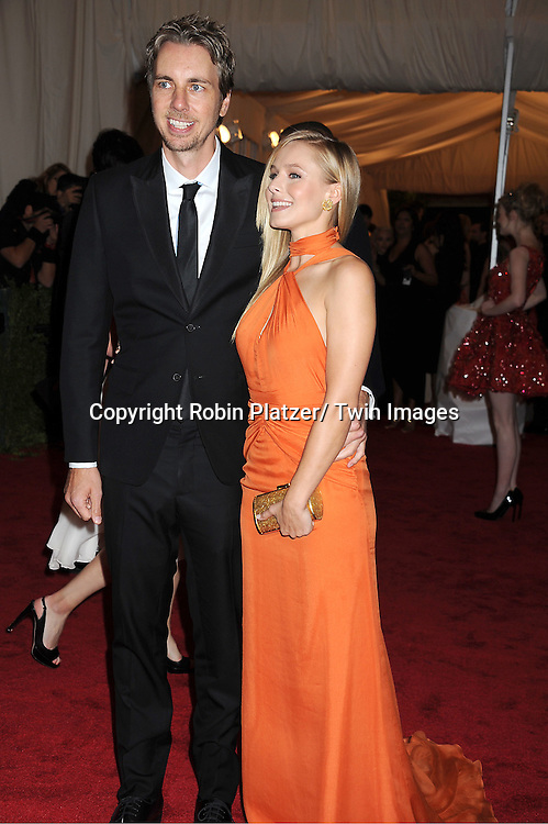 "Dax Shepard and Kristen Bell attends the Costume Institute Gala Benefit celebrating ""Schiaparelli and Prada: Impossible Conversations"".an exhibition at the Metropolitan Museum of Art in New York City on May 7, 2012."