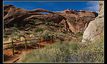 Landscape Arch in Devil's Garden, Arches National Park, Utah.<br />