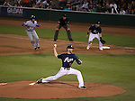 Reno Aces' Zeke Spruill pitches against the Las Vegas 51s, in Reno, Nev., on Saturday, Sept. 6, 2014. The Aces won 7-3, to win the Pacific Conference Championship Series. <br /> Photo by Cathleen Allison