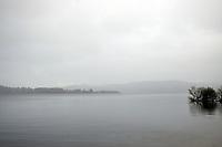 Loch Lomond in autumnal mist, Scotland
