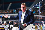 Stockholm 2014-01-18 Ishockey SHL AIK - F&auml;rjestads BK :  <br /> F&auml;rjestads tr&auml;nare Leif Carlsson reagerar<br /> (Foto: Kenta J&ouml;nsson) Nyckelord:  portr&auml;tt portrait tr&auml;nare manager coach