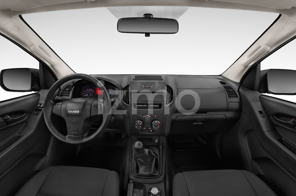 Stock photo of straight dashboard view of 2019 Isuzu D-Max LT 2 Door Pick-up Dashboard