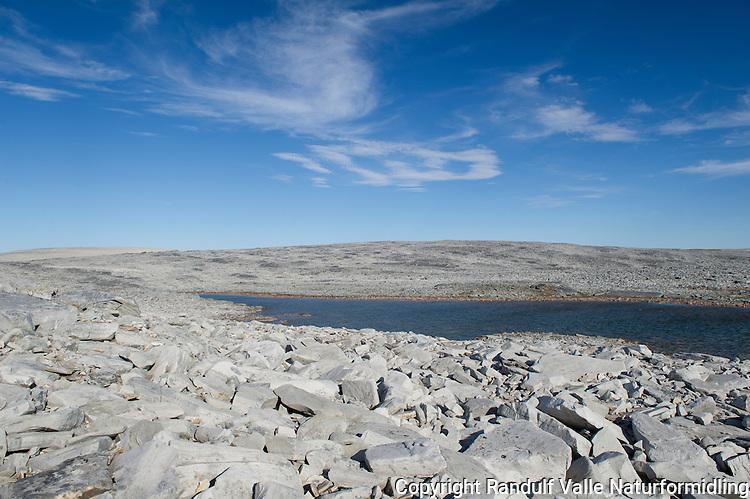 Høyfjellsterreng på Sværholthalvøya. ---- Rocky terrain on Sværholt peninsula.