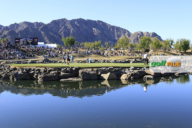 The par3 17th island green during Saturday's Round 3 of the 2017 CareerBuilder Challenge held at PGA West, La Quinta, Palm Springs, California, USA.<br /> 21st January 2017.<br /> Picture: Eoin Clarke | Golffile<br /> <br /> <br /> All photos usage must carry mandatory copyright credit (&copy; Golffile | Eoin Clarke)