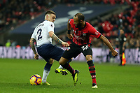 Kieran Trippier of Tottenham Hotspur and Nathan Redmond of Southampton during Tottenham Hotspur vs Southampton, Premier League Football at Wembley Stadium on 5th December 2018