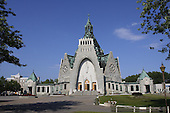 Our Lady of the Cape  Basilica ,  Sanctuaire Notre-Dame-du-Cap.  Thre-rivers, Quebec. The construction began in 1955, it was inaugurated in 1964. It's dome rises 125 feet high.