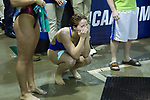 BIRMINGHAM, AL - MARCH 11: Monica Amaral of West Florida reacts after winning the 3 meter diving competition during the Division II Men's and Women's Swimming & Diving Championship held at the Birmingham CrossPlex on March 11, 2017 in Birmingham, Alabama. (Photo by Matt Marriott/NCAA Photos via Getty Images)