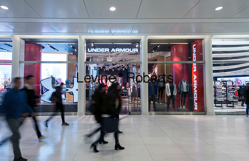 The newly opened Under Armour store in the Westfield World Trade Center mall inNew York on Friday, December 2, 2016.   (© Richard B. Levine)