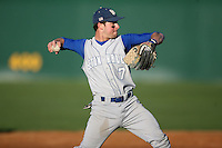 February 20, 2009:  Third baseman Chris Fontenelli (7) of Seton Hall University during the Big East-Big Ten Challenge at Jack Russell Stadium in Clearwater, FL.  Photo by:  Mike Janes/Four Seam Images