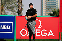 Joel Sjoholm (SWE) waits to tee off on the 9th tee during Saturday's  Round 3 of the 2012 Omega Dubai Desert Classic at Emirates Golf Club Majlis Course, Dubai, United Arab Emirates, 11th February 2012(Photo Eoin Clarke/www.golffile.ie)
