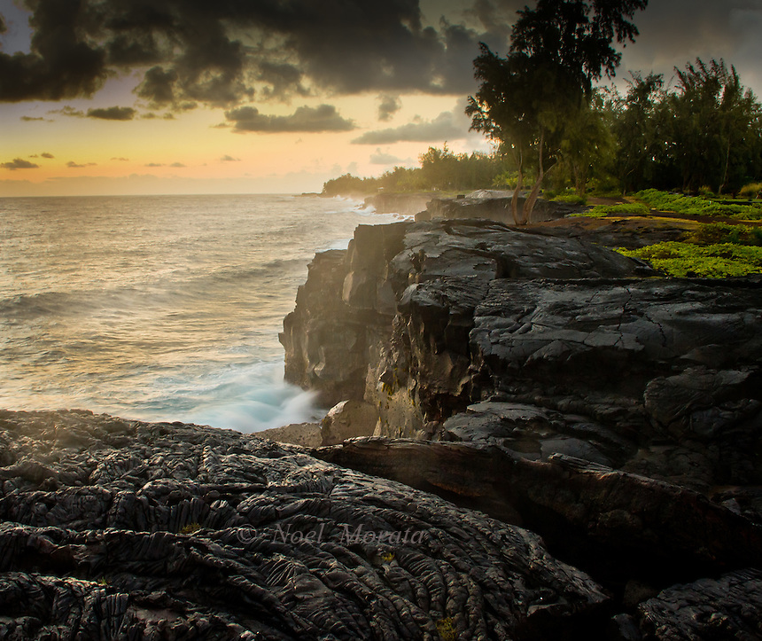 Hawaiian beaches, coastlines and inlets captured at various times of the day and on muggy, sunny, raining and interesting cloud formations