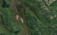 BNPS.co.uk (01202 558833)<br /> Pic: GoogleEarth/BNPS<br /> <br /> Google Earth view of the contested ridge.<br /> <br /> Border skirmish - Amateur cartologist discovers part of Wales should actually be in England.<br /> <br /> A hillwalker has discovered that the border between England and Wales has been incorrectly marked for decades - and that England should be given more land.<br /> <br /> Myrddyn Phillips said the official border between the two countries in the Black Mountains south of Hay-on-Wye has been wrongly traced on the Ordnance Survey maps.<br /> <br /> The current border should follow the natural watershed from the summit of Twyn Llech on the nine mile long Hatterrall Ridge in the remote area.<br /> <br /> But intrepid Mr Phillips and his rambling partner Mark Trengove have remeasured the summit of the 2,308ft mountain - and found it to be 12m further west than previously thought.<br /> <br /> Although 12 metres is a seemingly small discrepancy, the area amounts to 1.8 million square feet along the entirety of the ridge.
