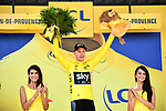 Race leader Chris Froome (GBR) Team Sky retains the Yellow Jersey at the end of Stage 19 of the 104th edition of the our de France 2017, running 222.5km from Embrun to Salon-de-Provence, France. 21st July 2017.<br /> Picture: ASO/Alex Broadway | Cyclefile<br /> <br /> <br /> All photos usage must carry mandatory copyright credit (&copy; Cyclefile | ASO/Alex Broadway)