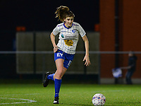 20180126 - OOSTAKKER , BELGIUM : Gent's Marie Minnaert pictured during the quarter final of Belgian cup 2018 , a womensoccer game between KAA Gent Ladies and RSC Anderlecht , at the PGB stadion in Oostakker , friday 27 th January 2018 . PHOTO SPORTPIX.BE | DAVID CATRY