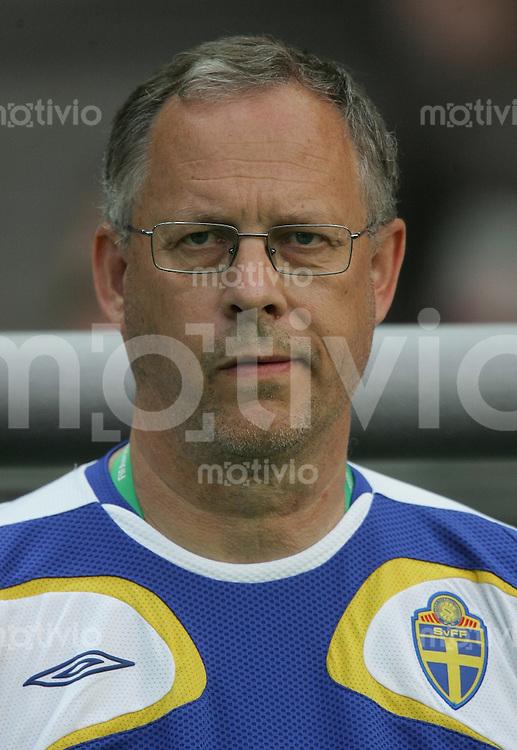 Fussball WM 2006  Gruppenspiel  Vorrunde Gruppe B  Schweden - Paraquay  Trainer Lars LAGERBACK (SWE)