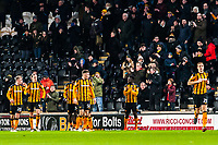 Hull City's forward Nouha Dicko (9) dances for his team mates during the Sky Bet Championship match between Hull City and Sheff United at the KC Stadium, Kingston upon Hull, England on 23 February 2018. Photo by Stephen Buckley / PRiME Media Images.