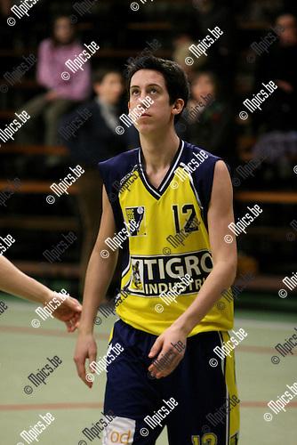 2010-01-17 / Basketbal / seizoen 2009-2010 / Antwerp Giants 2 - BBC Geel / Nicolas Buffin..Foto: mpics