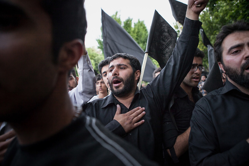 The commemoration of Imam Naqi martyrdom at the street of Isfahan, Iran. Imam Naqi, also known as Ali An-Naqi or Ali Al-Hadi was the tenth of the Twelve Imams of Shia Islam. His full name is Ali ibn Muhammad ibn Ali. The exact date of his birth and death are unknown, but it is generally accepted that he was born between 827-830 CE and he died between January and July of 868 CE because of poisoning.