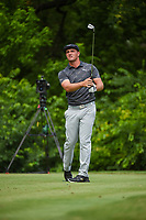Bryson DeChambeau (USA) watches his tee shot on 8 during round 2 of the 2019 Charles Schwab Challenge, Colonial Country Club, Ft. Worth, Texas,  USA. 5/24/2019.<br /> Picture: Golffile   Ken Murray<br /> <br /> All photo usage must carry mandatory copyright credit (© Golffile   Ken Murray)
