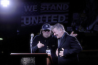 www.acepixs.com<br /> January 19, 2017  New York City<br /> <br /> Michael Moore and Alec Baldwin during a 'We Stand United' anti-Trump rally on January 19, 2017 in New York City.<br /> <br /> Credit: Kristin Callahan/ACE Pictures<br /> <br /> Tel: 646 769 0430<br /> Email: info@acepixs.com